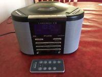 PURE CHRONOS DAB RADIO ALARM AND CD PLAYER AND REMOTE.