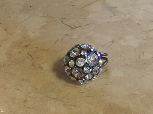 brand glam ring glitz circle crystals statement