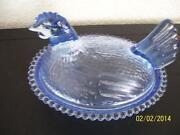 Indiana Glass Hen on Nest