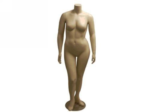 Female Fiberglass Plus Size Headless Mannequin Dress Form Display #MD-PLUSF1