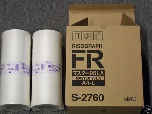 Risograph S-2760 InkJet Duplicator Master (2/Ctn)