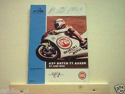 1992 DUTCH TT ASSEN PROGRAMME. GRAND PRIX, POSTER WILCO ZEELENBERG LUCKY STRIKE