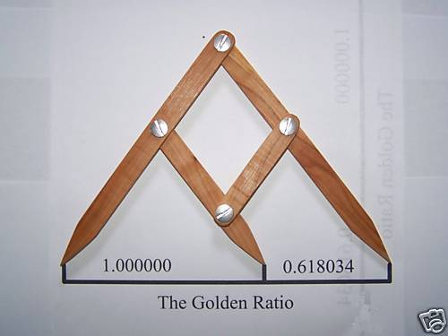 Fibonacci Gauge, Golden Ratio Design Tool, PHI Caliper--THOUSANDS SOLD