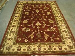 Exclusive Chobi Zeigler Mahal Rectangle Area Rug Vege Dyed Hand Knotted Carpet (9.1 x 6.1)'