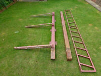 Metal Fence/Gate Posts with Hinges, for sale.