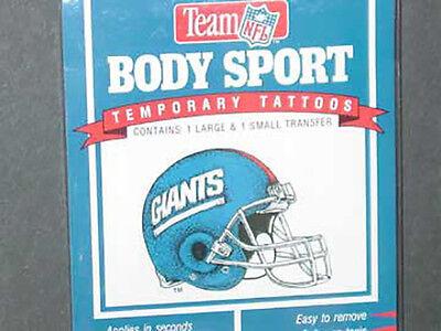 New York Giants Tattoos (NFL Temporary Tattoos (3 Packs) New York Giants,)
