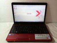 Toshiba Satellite L750 Intel Core i3 250GB HDD 6GB RAM Windows 7 Laptop RED