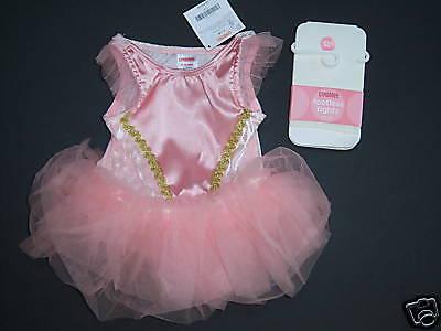 NWT Gymboree Baby Ballerina Ballet Costume Tights 6-12 Months