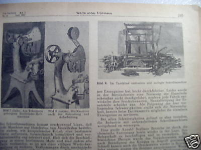 Die Bautechnik Fachschrift Bauingenieurwesen 1947 Bd. 2 Technik 11 Hefte