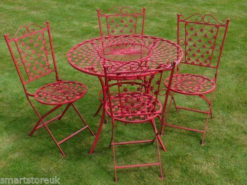 Wrought Iron Table and Chairs | eBay