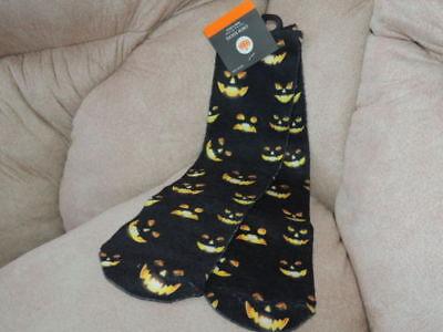 New Most Haunted Halloween (Adult Halloween ** HAUNTED PUMPKIN CREW SOCKS ** NWT ONE SIZE FITS)