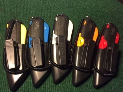5 COLOR KIT Easy Cut 1000 Safety Box Cutter Knife w/ Holster & Lanyard Easycut Kit Box Cutters