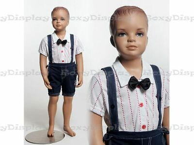 Child Fiberglass With Molded Hair Mannequin Dress Form Display Mz-kd2