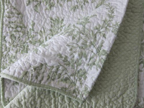 Green Toile Bedding Ebay
