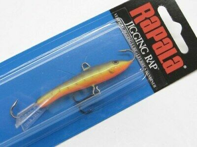 "Rapala Jigging Rap 03 W3-GYP Glow Yellow Perch 1 1//2/"" 3//16 oz Ice Fishing Lure"