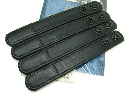 "Bianchi 22090 Black 7906 Hidden Snap Accumold Elite 1"" Belt Keeper Pack Of 4"