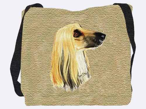 Woven Tote Bag - Afghan Hound 1170