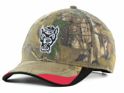 NC State Wolfpack OC Sports Realtree™ Camo  NCAA Hideout Cap Hat OSFM