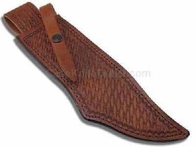 CASE XX KNIVES BASKETWEAVE GENUINE LEATHER REPLACEMENT BOWIE SHEATH USA 50419
