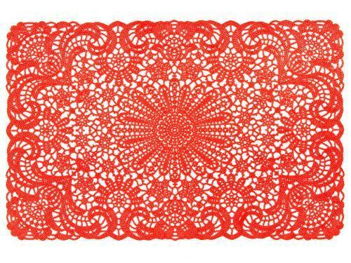 Red Vinyl Placemats Ebay