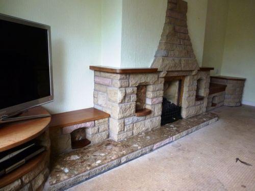 Stone Fireplace | Fireplaces & Surrounds | eBay