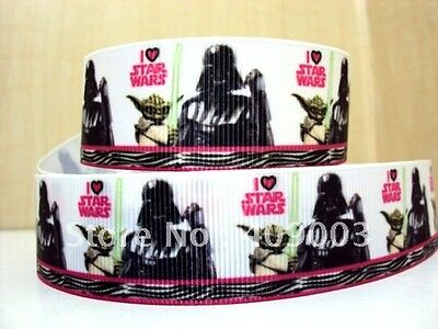 """Star Wars Ribbon 1"""" Wide 1m is only £0.99 NEW"""