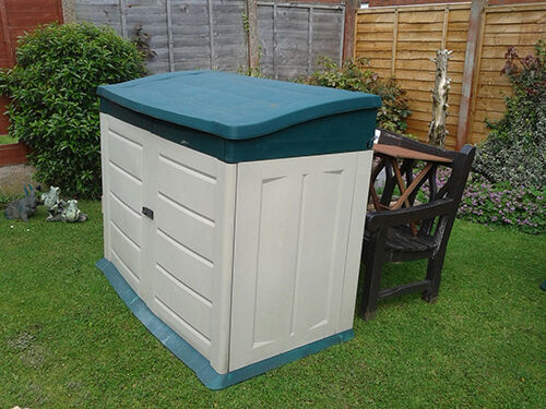 Plastic storage shed buying guide ebay for Garden shed for lawn mower