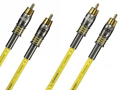 1,00m Stereo-Cinchkabel Sommer Cable EPILOGUE Originalkonfektionierung, Referenz