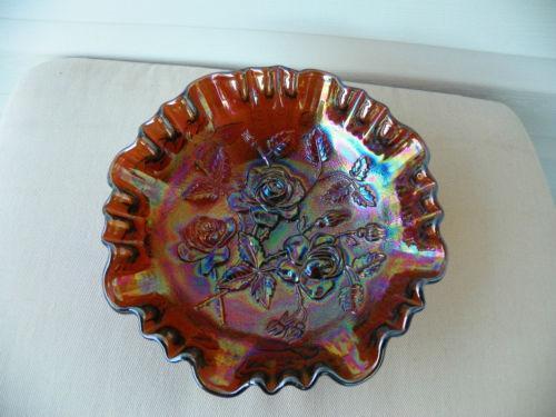 Carnival Glass Rose Bowl Ebay