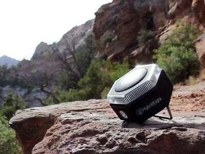 - Hybrid HEX Bluetooth Speaker, 400 Lumen Flashlight, Radio, and Cell Phone Charge