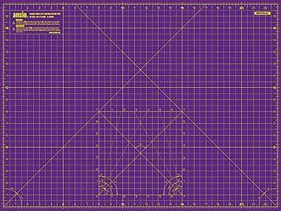 A2 Cutting Mat Imperial/Metric Double Sided Self Healing 5 Layer Heat Resist
