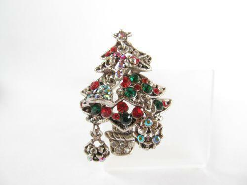 Silver Christmas Tree Pin
