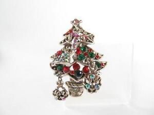 silver christmas tree pin - Silver Christmas Tree