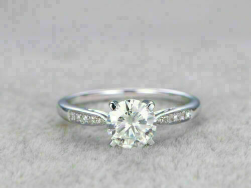 2Ct Round Cut Diamond 14k White Gold Over Solitaire Engagement Wedding Ring Gift