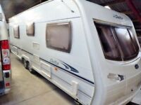 Lunar Delta 640,twin axle,4 berth,Excellent,fixed bed,end washroom.Luxury