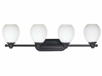Kenroy Home 80264ORB Milne Four-Light Vanity Light With 6-Inch Shades, Oil - Orb Four Light Vanity