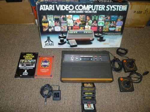 Original atari video game consoles ebay - Original atari game console ...