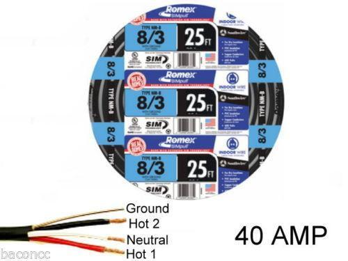 Southwire Romex SIMpull 125-Ft 8-3 Non-Metallic Electrical