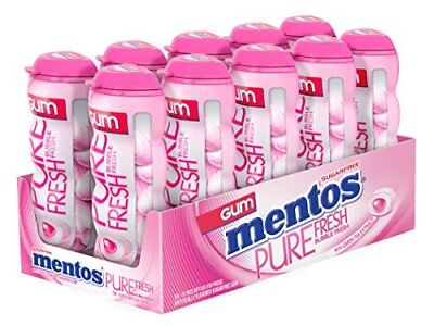 Used, Mentos Sugar-Free Chewing Gum, Bubble Fresh