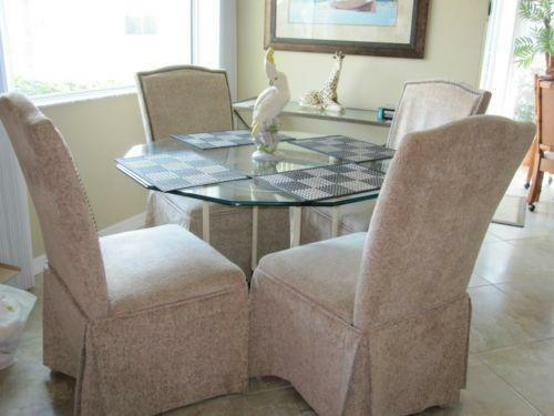 Upholstered Parsons Chairs With Skirts