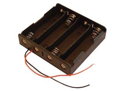 Batteriehalter für 4x 18650 Batterien mit Leitung Battery box case
