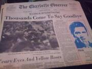 Elvis Presley Newspaper