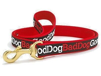 "Dog Puppy - Up Country - Designer - Good Dog/Bad Dog Leash 6' L x 1"" W - USA"