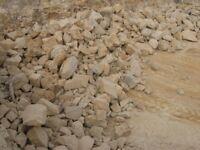 Limestone hardcore base MOT 1 ton. £25. Grit sand