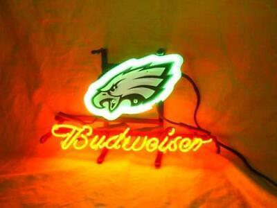 PHILADELPHIA EAGLES FOOTBALL Budweiser Beer Bar Pub Store Garage Neon Light Sign - Philadelphia Eagles Store