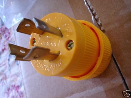 L14-20P  locking male plug  4-prong 125/250 Volt 20 amp FREE SHIP