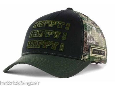 Duck Dynasty 3D Happy Logo Trucker Style Cap Hat Camo   OSFM