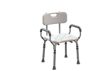 Sedia da bagno sedile doccia sgabello per disabili ed anziani altezza regolabile