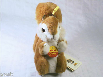 Steiff Squirrel Named (Kecki) #045110 Plush Animal Stuffed Toy New