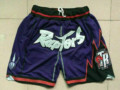 Toronto Raptors Basketball Game Shorts Vintage NWT Stitched Men's Short Pants